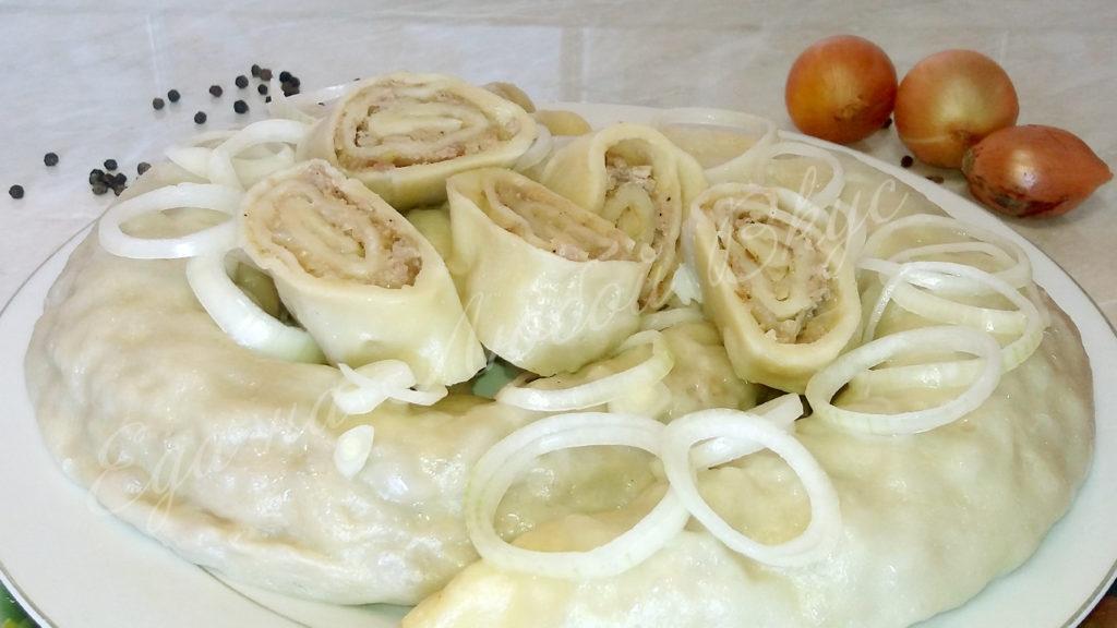 Ханум рецепт с фаршем пошаговым