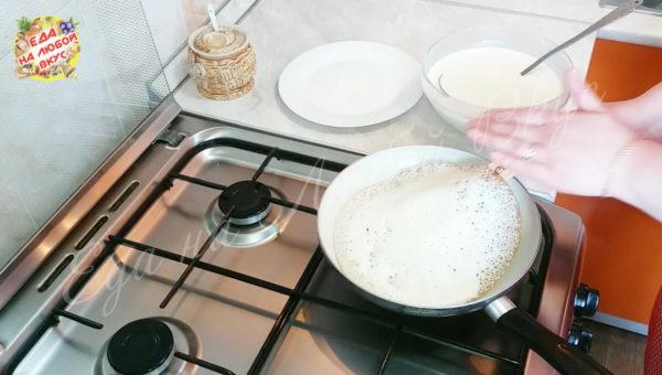 Блины на минеральной воде рецепт с пошагово с дырочками с