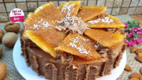 Карамельный бисквит рецепт с фото пошагово